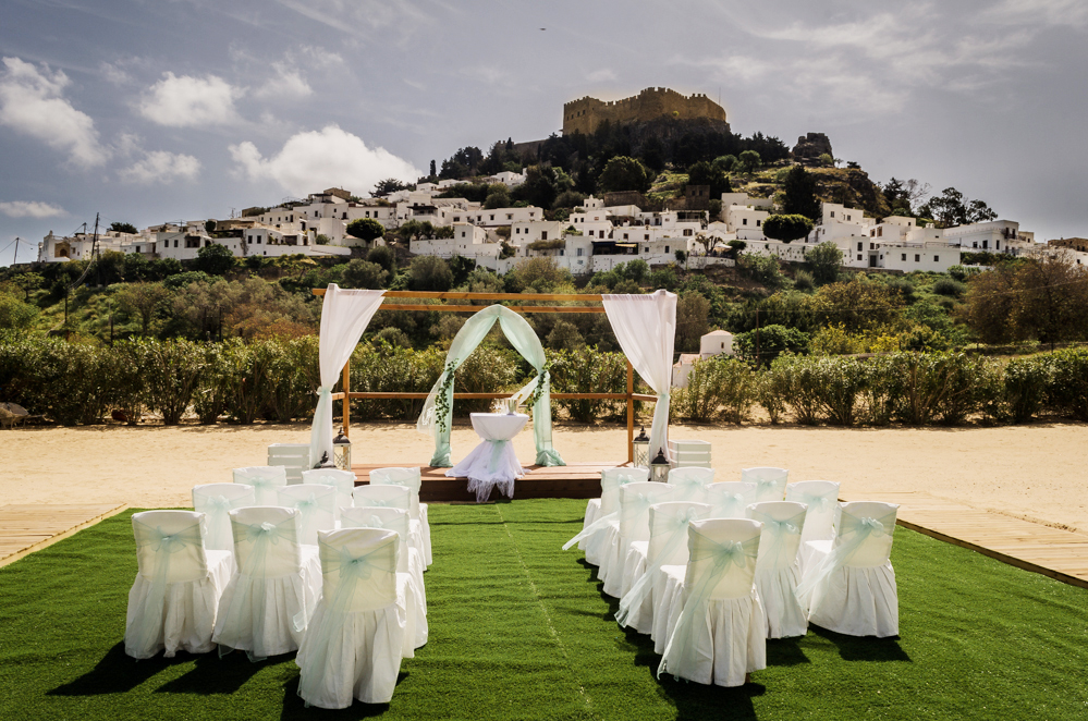 Book your wedding day in Lindos Beach