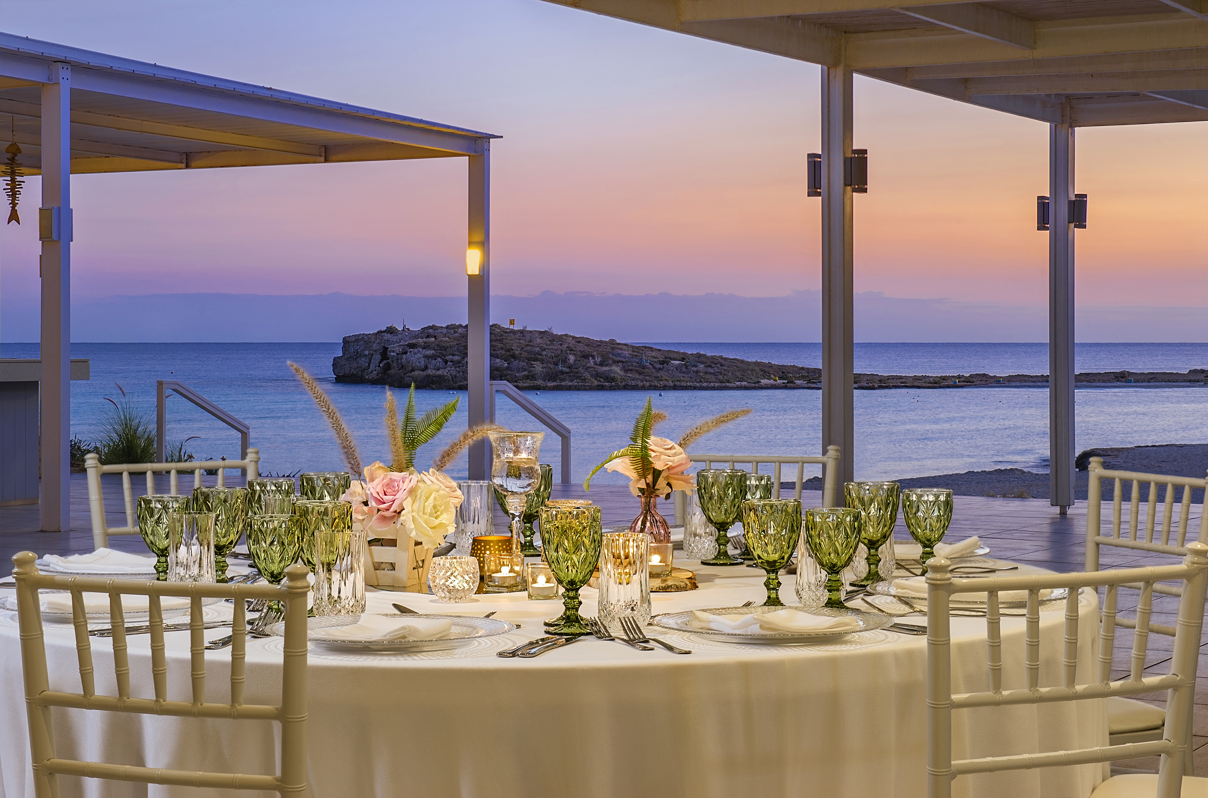 taverna Nissi_Wedding set up_dusk.jpg